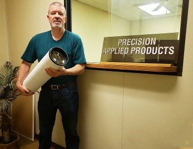Pete Holding Refractor Tube Assembly